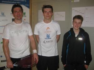 2.Tero Timberg 1.Janne Järvinen 3.Kristian Rautiainen