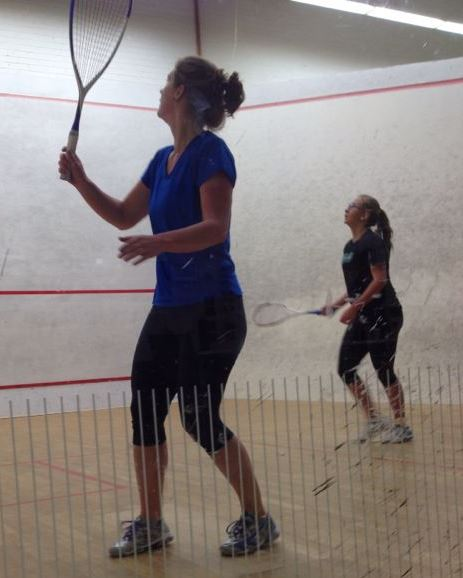 Birgit Coufal (WSA 58) playing for ESRC I against Nea Falck (ESRC II)