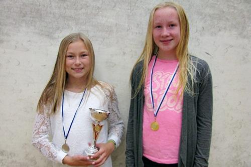 Tytöt alle 13 menestyjät: 1. Jemina Stengård SquNa, 2. Aino Linho SquNa