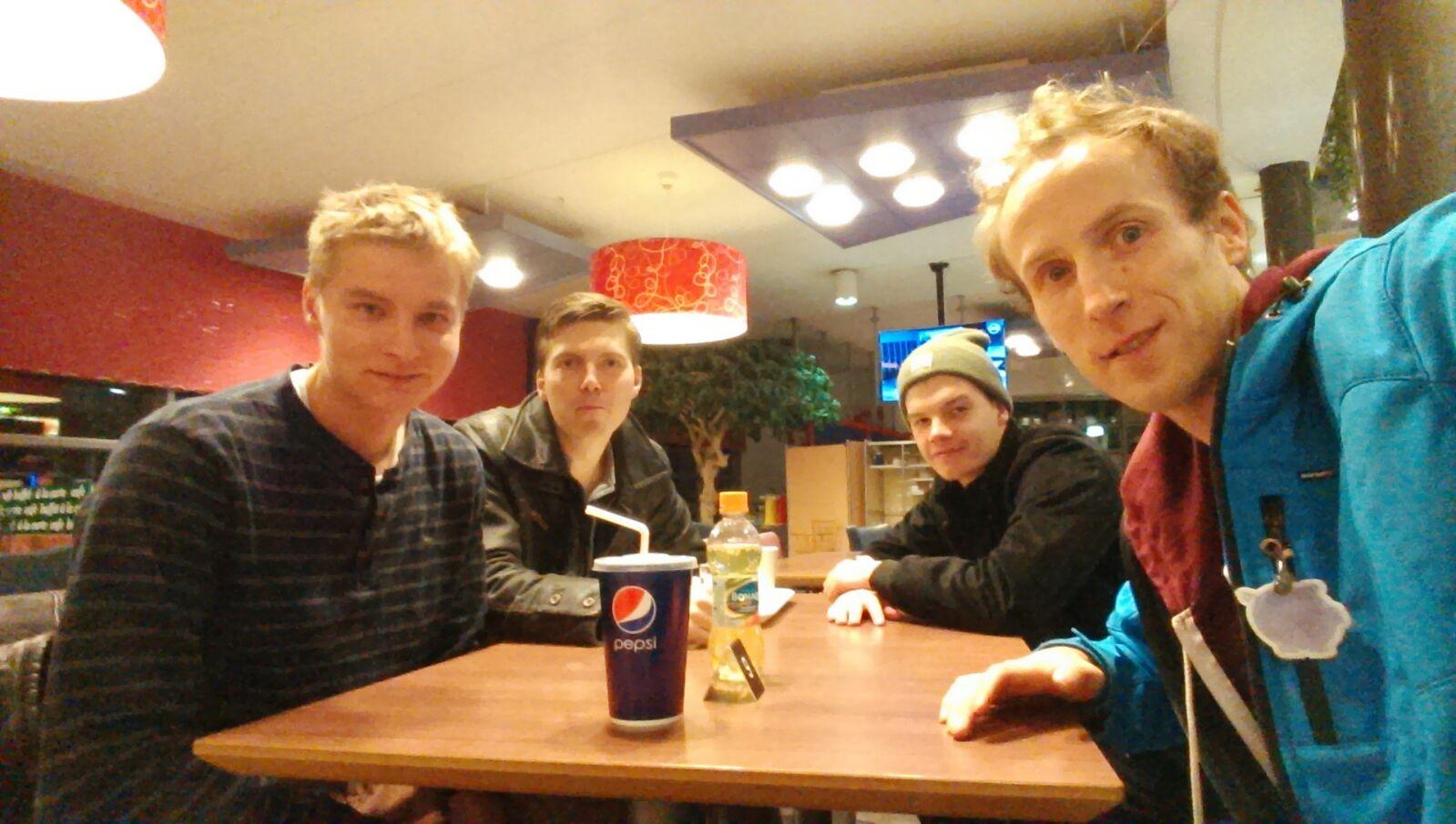 Jaakko, Janne, Hendrik, Matias